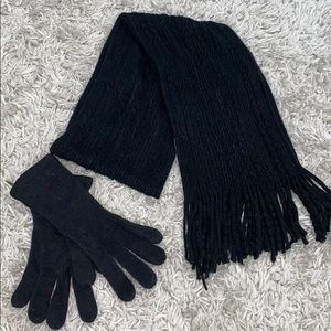 NWOT New York and Company Scarf and Mittens Set